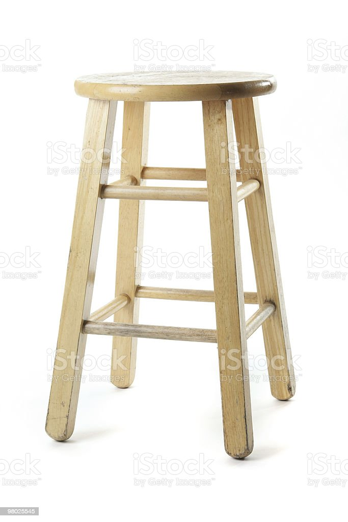 Basic Wooden Stool royalty-free stock photo