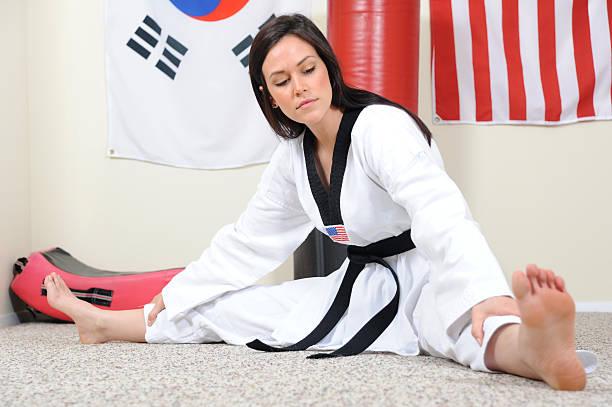 Basics of stretching stock photo