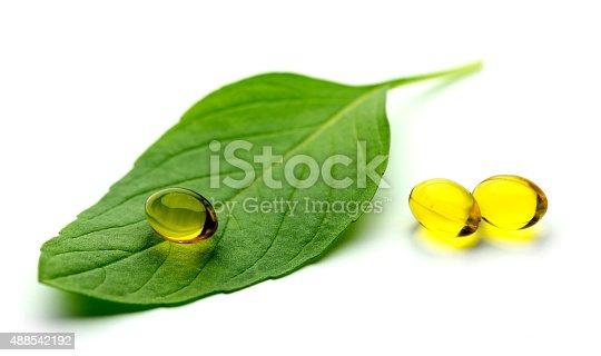Basil softgel capsules supplement