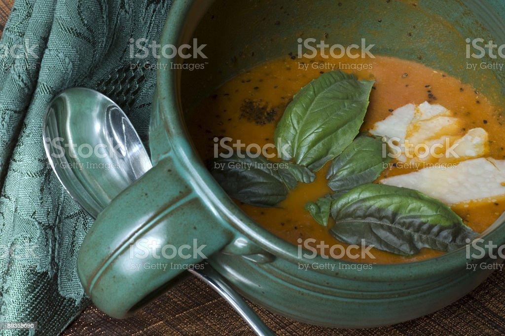 Basil Tomato Soup royalty free stockfoto