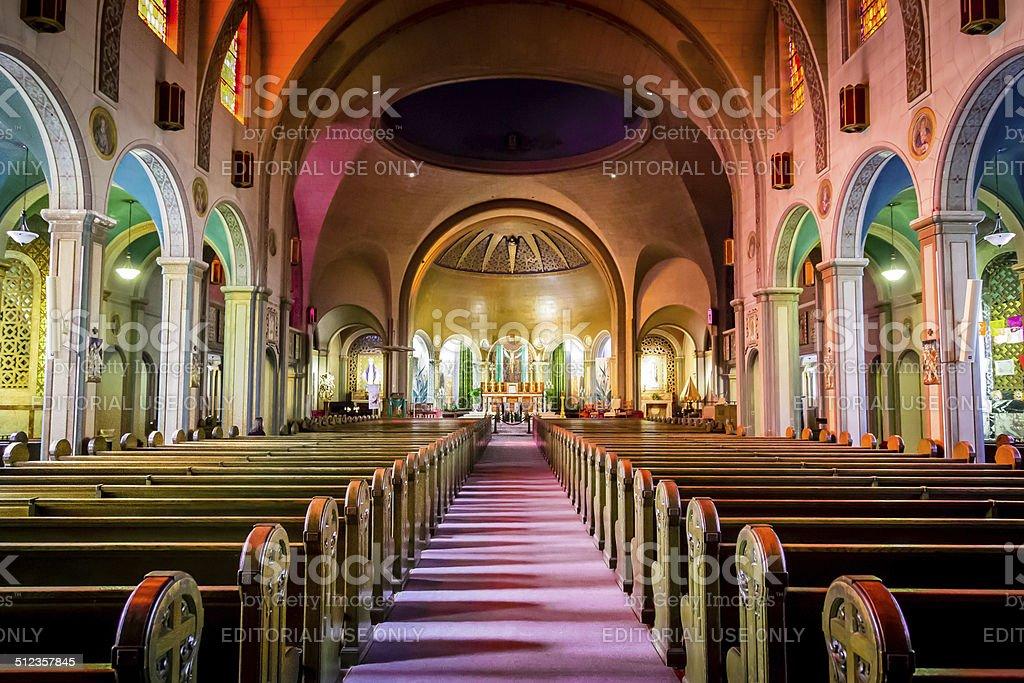 Basilica at Mission Dolores, San Francisco stock photo
