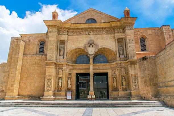 Basilica cathedral of Santa Maria de la Encarnación stock photo
