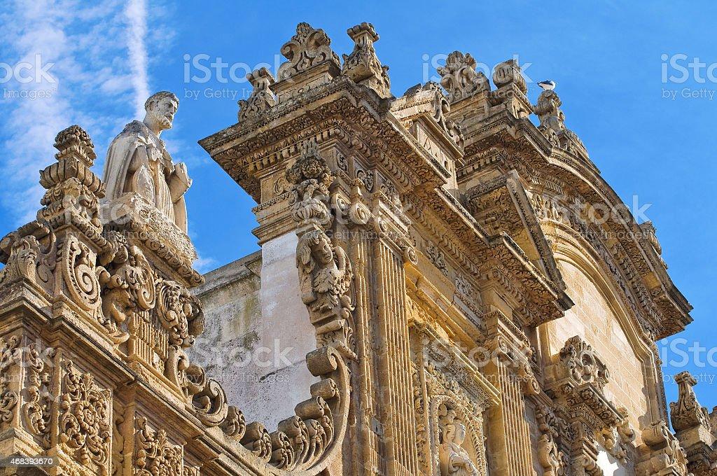 Basilica Cathedral of St. Agata. Gallipoli. Puglia. Italy. stock photo