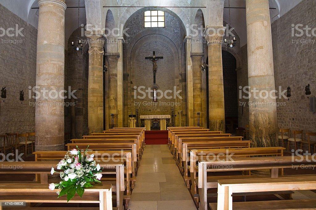 Basilica church of St. Basilio. Troia. Puglia. Italy. stock photo