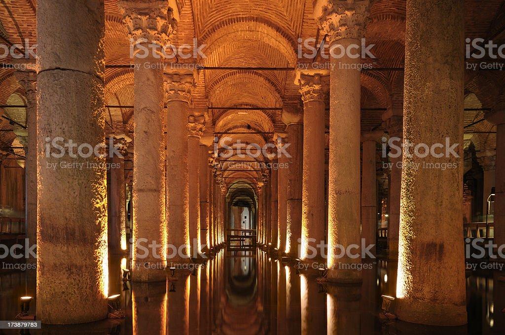 Basilica Cistern, istanbul ,Turkey royalty-free stock photo