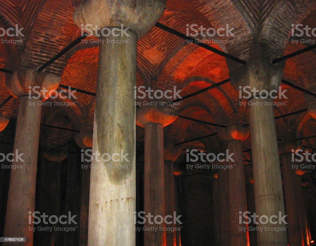 Basilica cistern Istanbul Turkey royalty-free stock photo