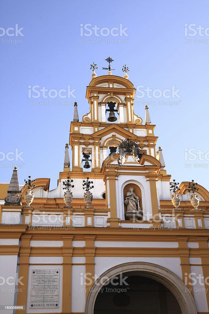 Basilica de la Macarena, Seville. Detail royalty-free stock photo