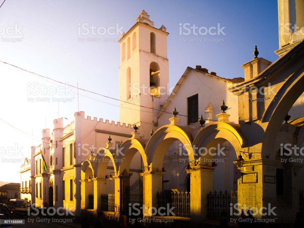 Basilica de San Francisco de Charcas in Sucre, Bolivia, South America stock photo