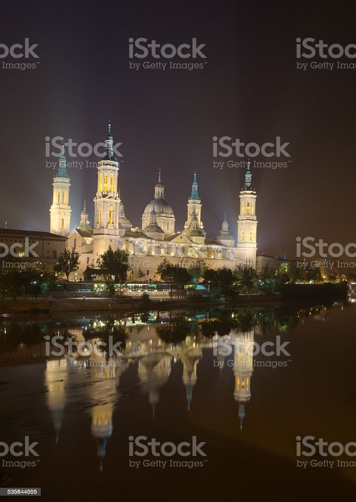 basilica del pilar in spanish zaragoza stock photo