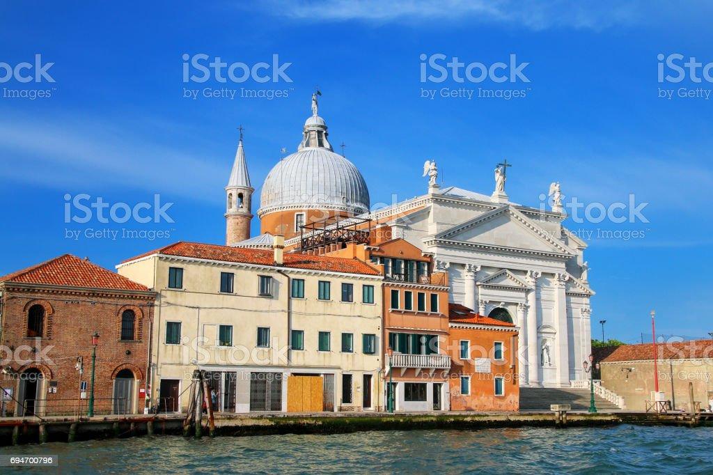 Basilica del Santissimo Redentore on Giudecca island in Venice, Italy stock photo