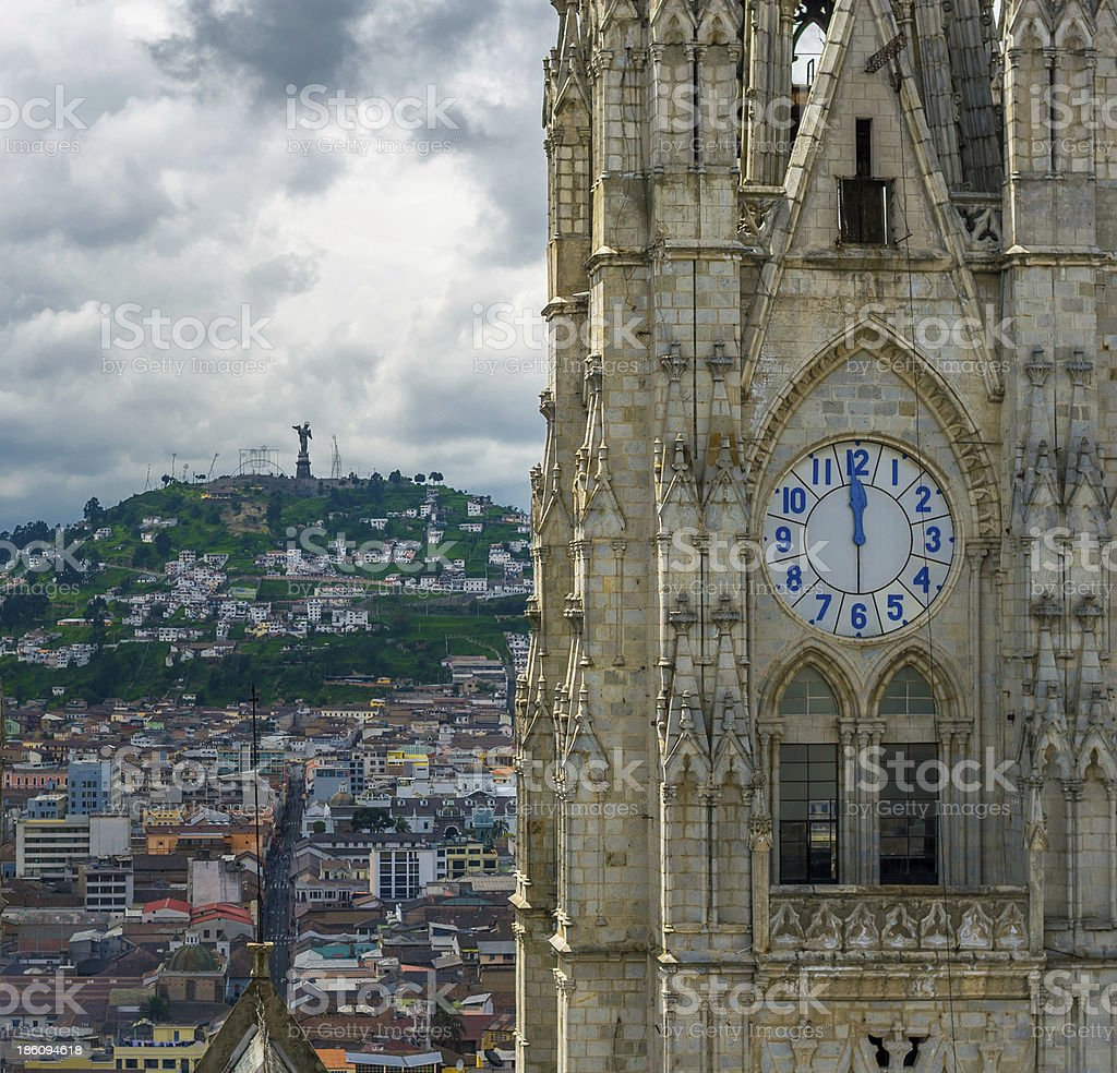 Basilica del Voto Nacional, Quito, Ecuador royalty-free stock photo