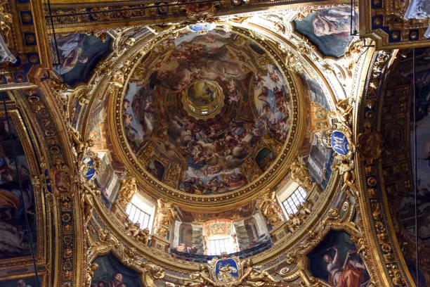 Basilica della Santissima Annunziata del Vastato - Genoa stock photo