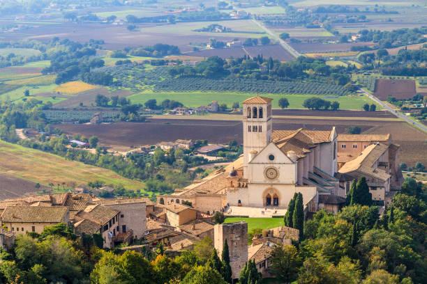 Basilica di San Francesco, Assisi - Umbria, Italy Basilica di San Francesco, Assisi - Italy umbria stock pictures, royalty-free photos & images