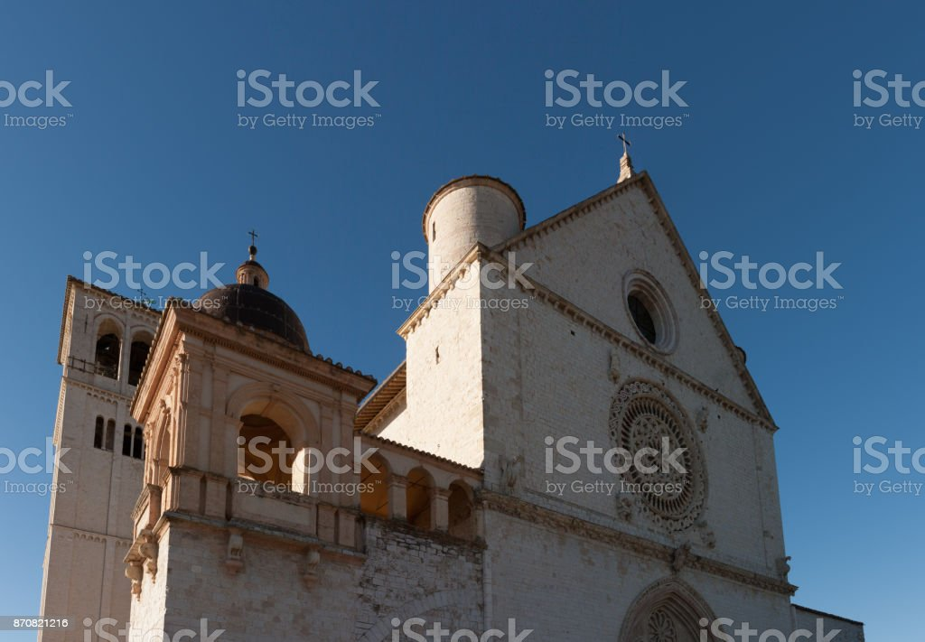 Basilica di San Francesco (St. Francis), Assisi, Umbria, Italy stock photo