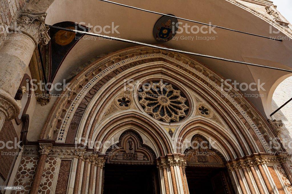 Basilica di San Francesco d'Assisi, Perugia e Assisi, Umbria, Italia - foto stock