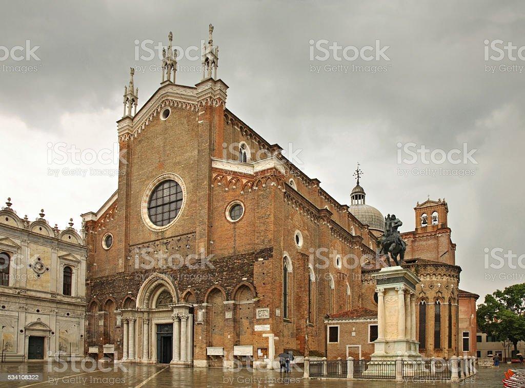 Basilica di San Giovanni e Paolo in Venice. Italy stock photo