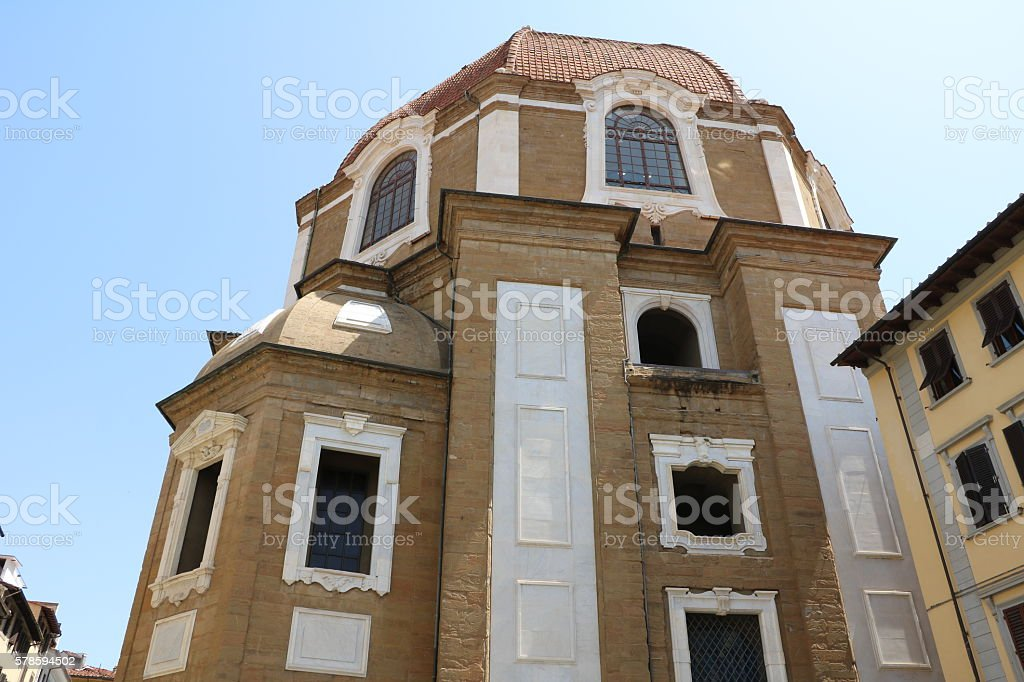Basilica di San Lorenzo, Medici Chapels in Florence, Tuscany Italy stock photo