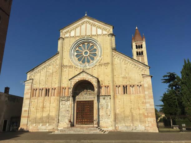 Basilica di San Zeno Maggiore church Verona city the Veneto region Italy Europe. stock photo