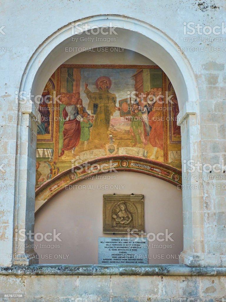 Basilica di Santa Caterina di Alessandria. Galatina, Apulia, Italy. stock photo