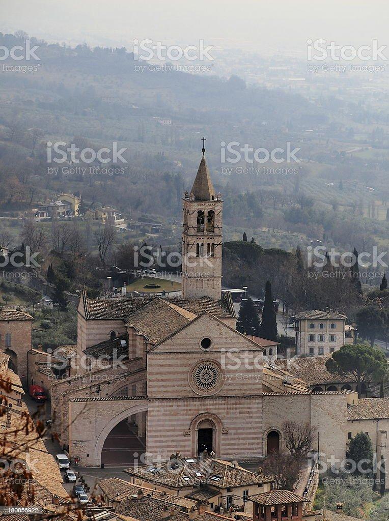 Basilica di Santa Chiara, Assisi, Italy stock photo