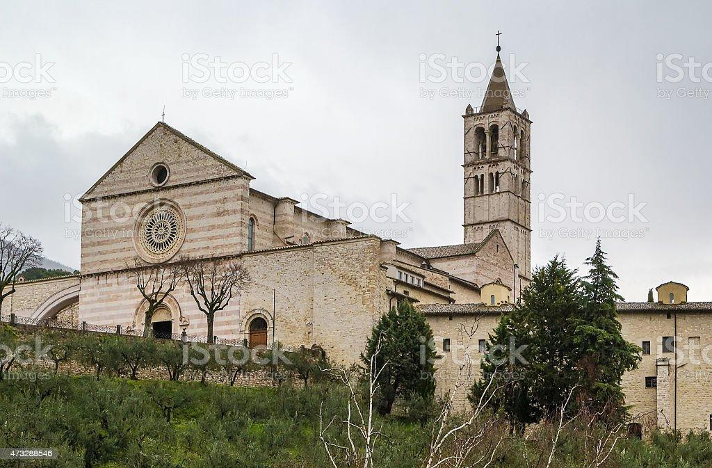 Basilica di Santa Chiara, Assisi stock photo