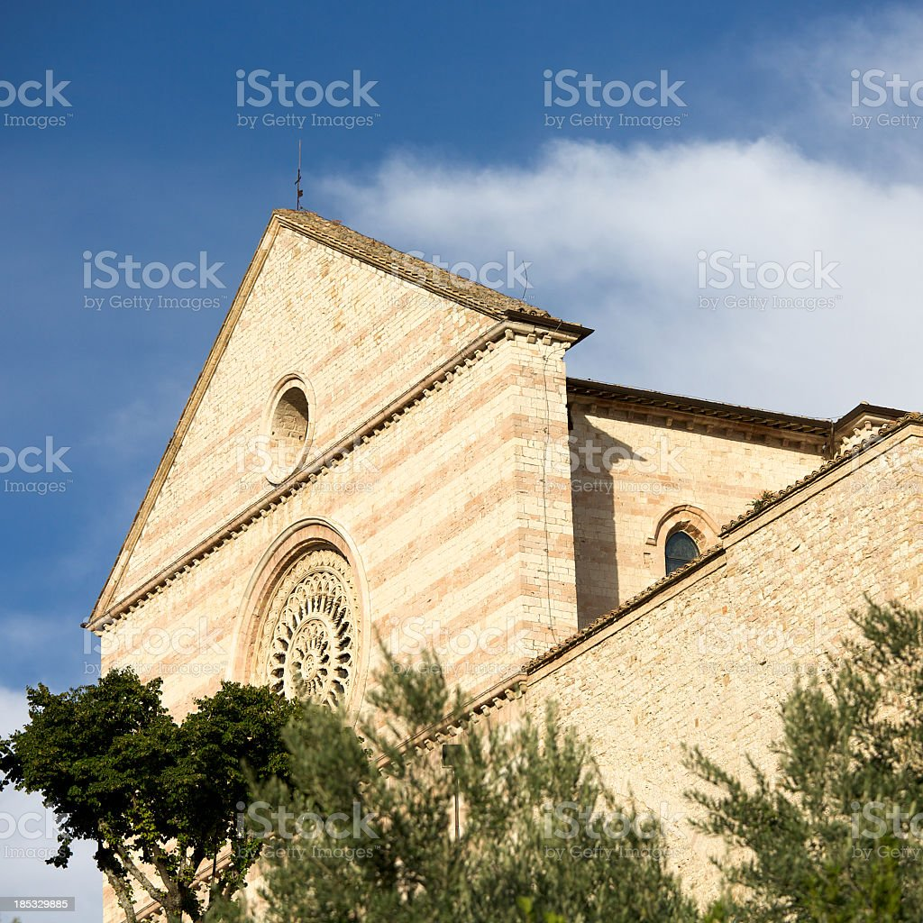 Basilica di Santa Chiara in Assisi royalty-free stock photo