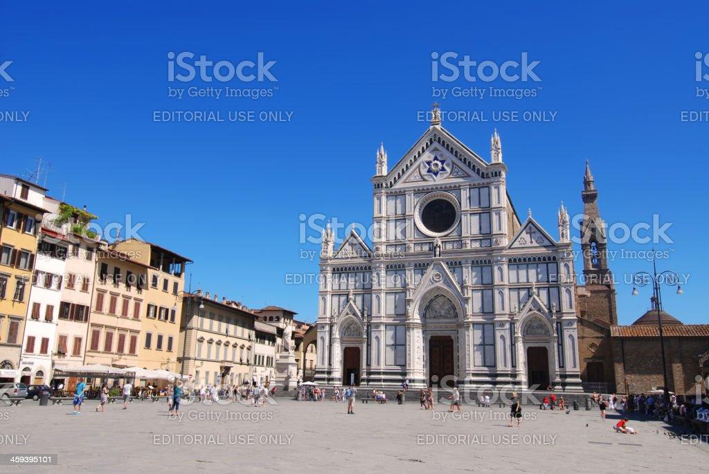 Basilica di Santa Croce, Florence stock photo