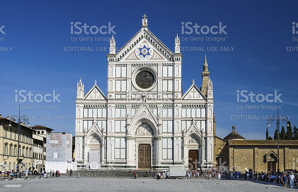 Basilica di Santa Croce, gothic church in Florence, Italy stock photo