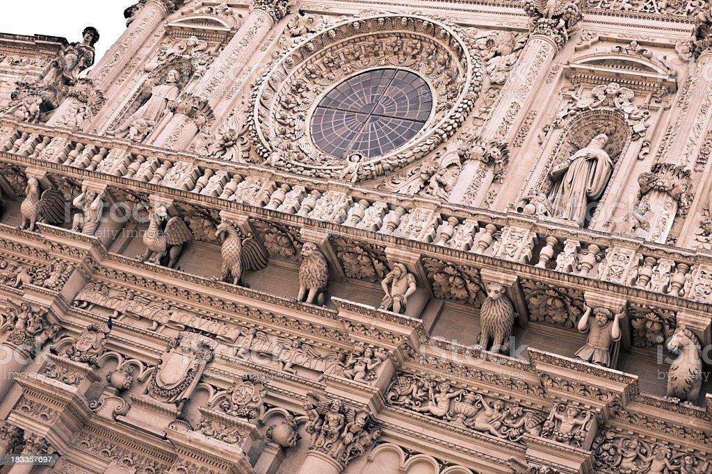 Basilica di Santa Croce, Lecce - Italy royalty-free stock photo