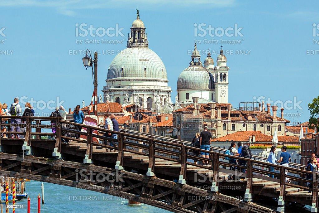 Basilica di Santa Maria della Salute in Venice stock photo
