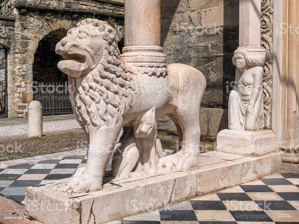 Basilica di Santa Maria Maggiore Bergamo, Włochy zbiór zdjęć royalty-free
