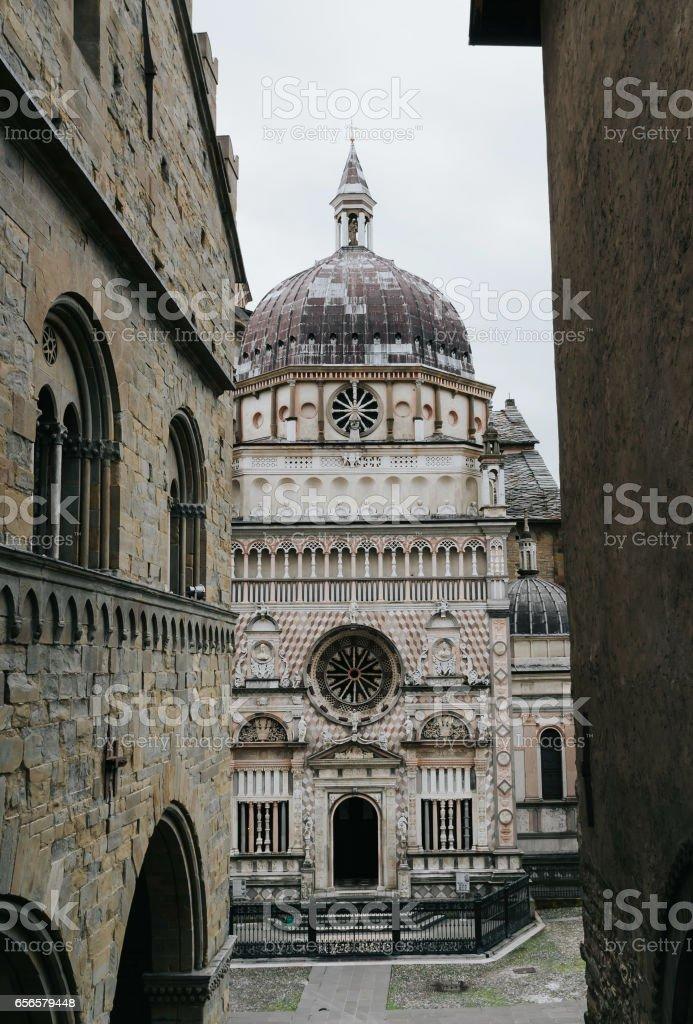 Basilica di Santa Maria Maggiore in Bergamo Citta Alta, Italy stock photo