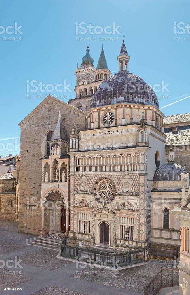 Basilica di Santa Maria Maggiore in Bergamo, Italy stock photo