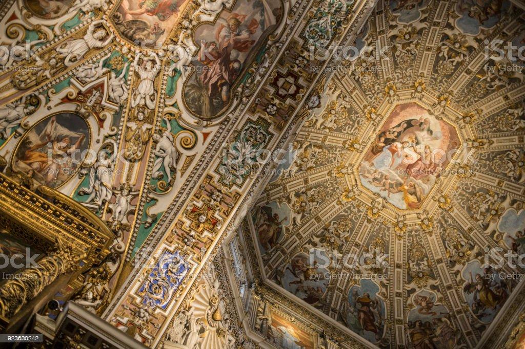 Basilica di Santa Maria Maggiore in Bergamo stock photo