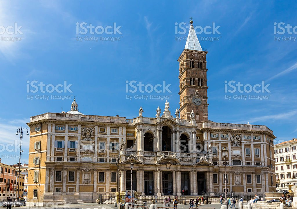 Basilica di Santa Maria Maggiore in Rome, Italy stock photo