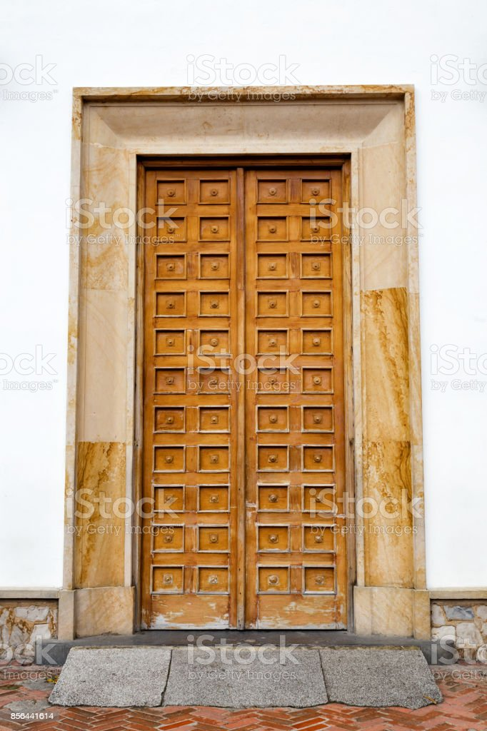 Basilica Door on Monserrate stock photo