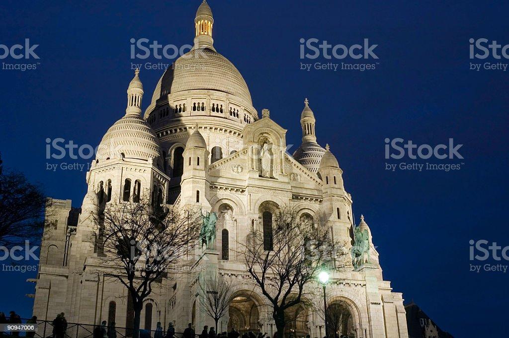 Basilica du Sacre-Coeur, Paris royalty-free stock photo