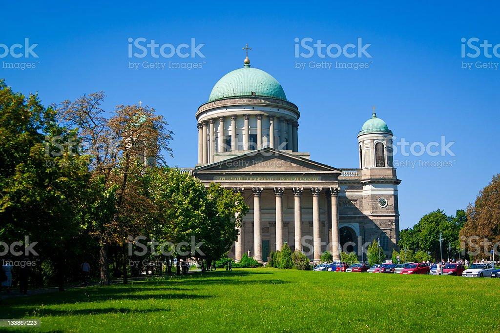Basilica Esztergom, Hungary stock photo