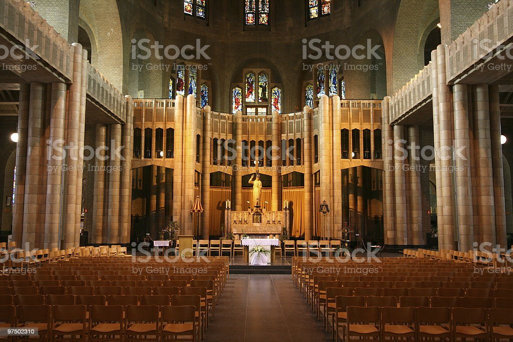 Basilica in Brussels royalty-free stock photo