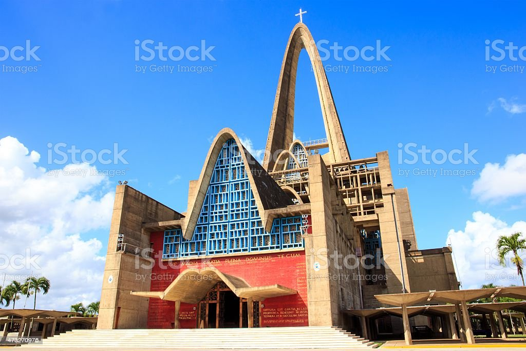 Basilica la Altagracia in Dominican Republic stock photo