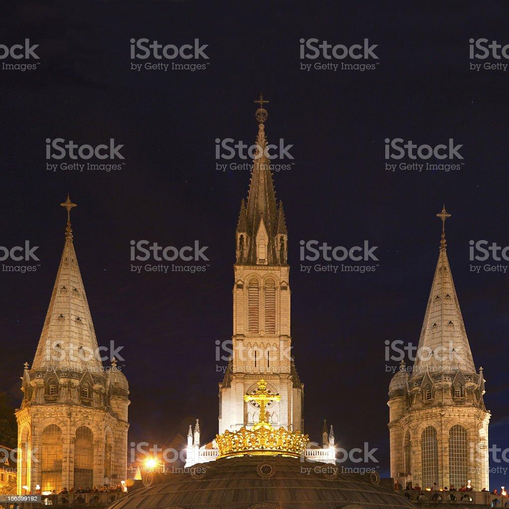 Basilica Lourdes royalty-free stock photo