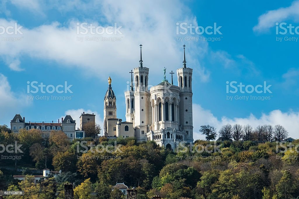 Basilica notre Dame de Fourviere directions Lyon, France - Photo