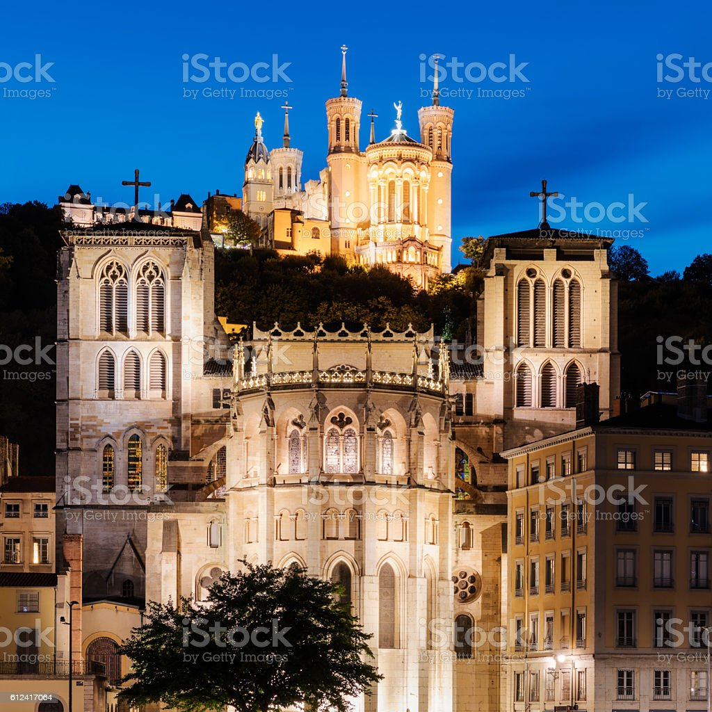 Basilica Notre Dame de fourviere in Lyon - Photo