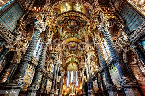 Basilica Notre Dame, Lyon, France taken in 2015
