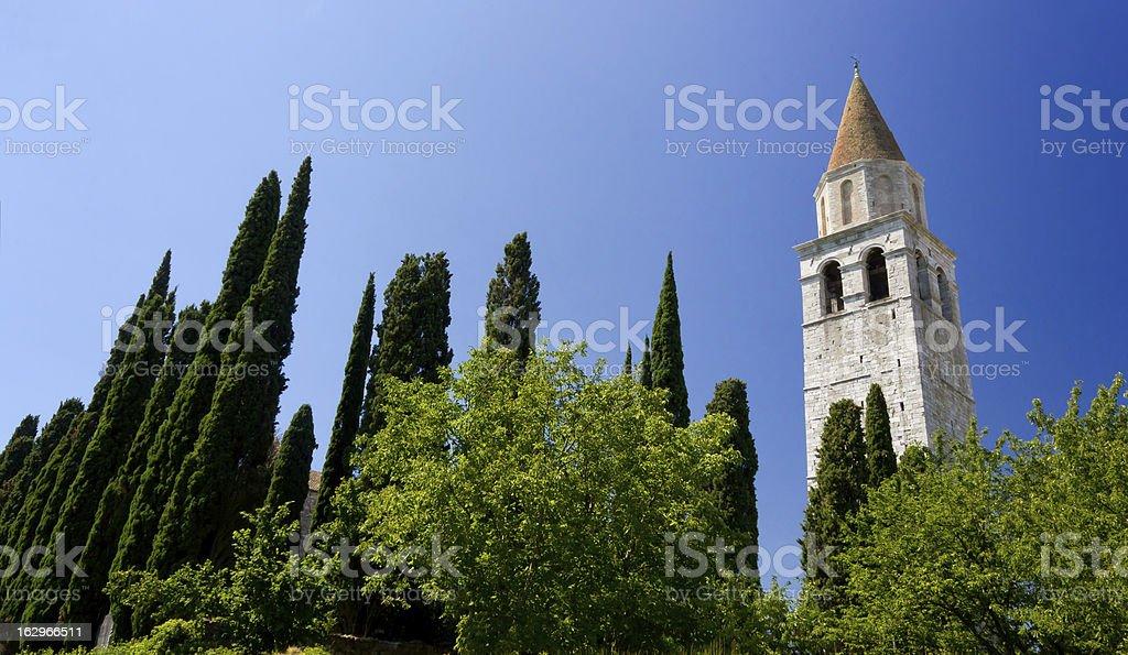 Basilica of Aquileia stock photo