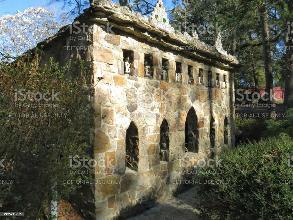 Basilica of Bethlehem Stable by Brother Joseph Zoettl, Alabama royalty-free stock photo
