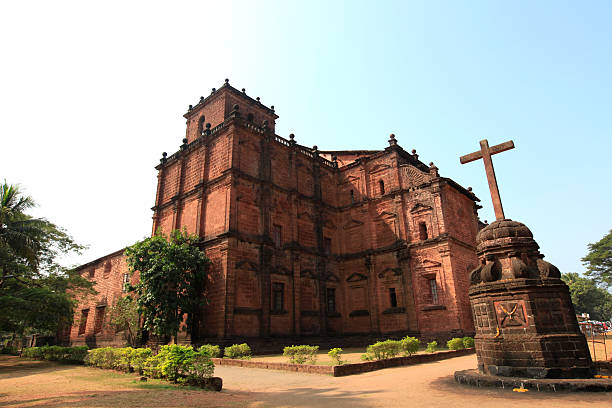 Basilica of Bom Jesus, Goa, India The Basilica of Bom Jesus is Consecrated in 1605 and located in Old Goa, capital of Goa in the early days of Portuguese rule. The Church is a UNESCO World Heritage Site and this world heritage monument has emerged as a landmark in the history of Christianity. goa stock pictures, royalty-free photos & images