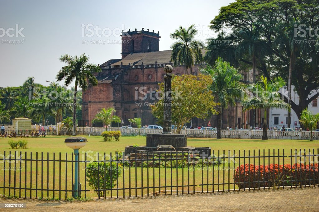 Basilica of Bom Jesus in Old Goa, India stock photo