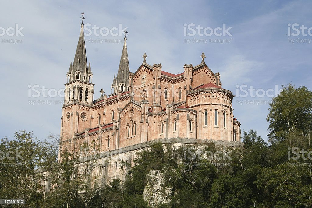 Basilica of Covadonga royalty-free stock photo
