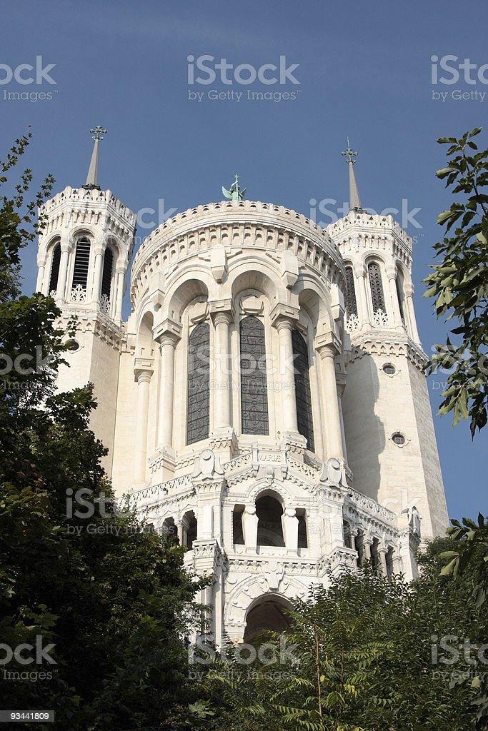 Abteikirche de Fourvière-lyon Lizenzfreies stock-foto